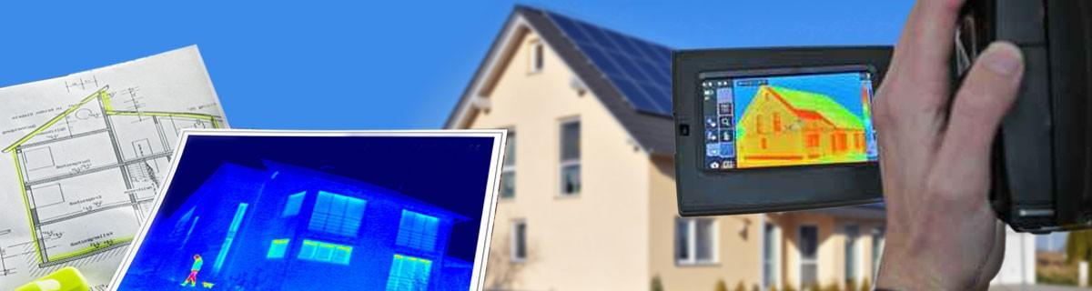 Einsatzgebiet Gebäudethermografie, Wärmebildaufnahme zur Ermittlung von Energieverlust